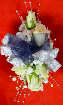 Blue and Silver Corsage-3D