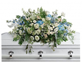 Blue and White Casket Spray  Casket Spray