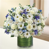 Blue and White Cheer Arrangement