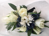 Blue and White Corsage Corsage