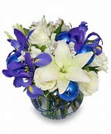 Blue and White Delight Arrangement