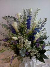 Blue and White Elegance Basket