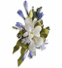 Blue and White Elegance Corsage Corsage