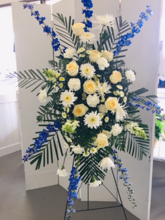 Blue and White Eternal Affection Standing Easel