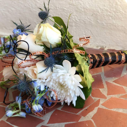 Blue and White Hand Bouquet