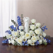Blue And White Serenity Angel Arrangement
