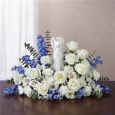 Blue And White Serenity Angel Arrangement