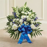 Blue and White Sympathy Floor Basket sympathy basket