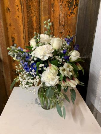 Blue and White Vase Arrangement