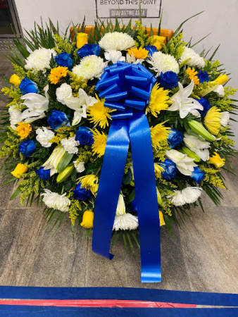 Blue and yellow flowers You're precious to me
