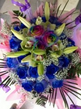 Blue Angel Bule Rose Hong Kong Bouquet