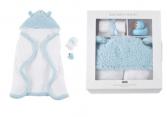 Blue baby bath set
