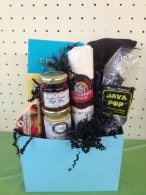 Blue Bash Gift/Gourmet Basket in Eastman, GA | MARTHA SHELDON FLOWERS & EVENTS