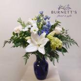 Blue Beauty Vase Arrangement