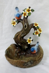 Blue Birds Mini Bird Bath Gift Item