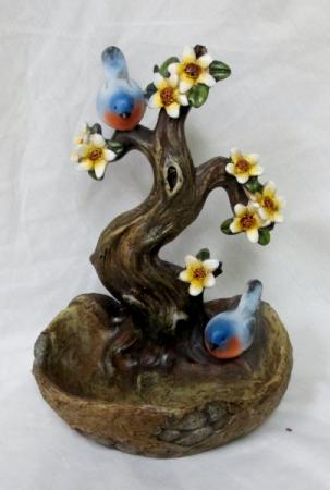 Blue Birds Mini Bird Bath Gift Item