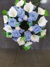 Blue Bliss Silk Wreath