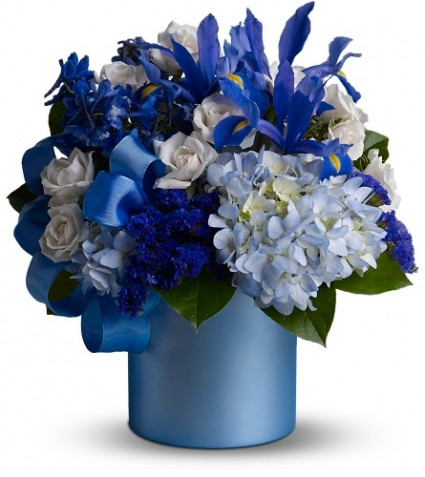 Blue Blooms Fl Arrangement In