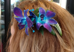 Blue Bom Orchid Hair Piece in Jersey Shore, PA | Russell's Florist, LLC