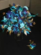 Blue Bom Orchid Hand Bouquet