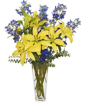 BLUE BONNET Floral Arrangement in Mobile, AL | ZIMLICH THE FLORIST