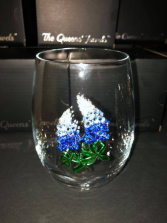 Blue Bonnet Stemless Glass