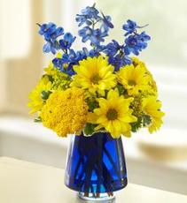 Blue Burst Vase Arrangement
