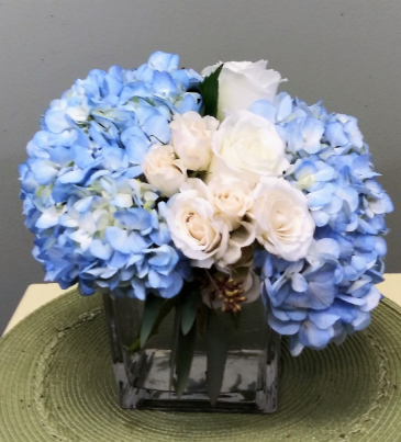 Blue By You Blue Hydrangea White Roses