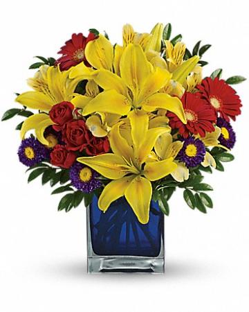 Blue Caibbean Bouquet