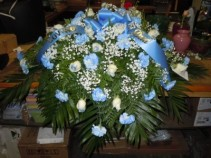 Blue Mix (C22) Casket Spray