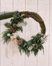 Blue Christmas Modern Christmas Wreath SALE - 25% OFF