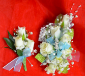 Blue Corsage and Boutonniere-4F & 4G