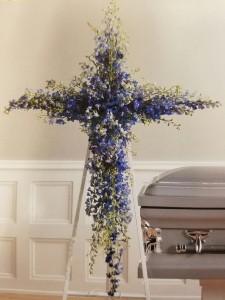 Blue Cross Standing Spray