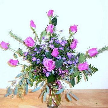 Blue Curiosa Clear Glass Vase