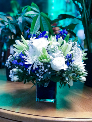 Blue Dawn Floral Arrangement in Lauderhill, FL | A ROYAL BLOOM FLOWERS & GIFTS