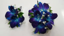 BLUE DENDRO SET 2 CORSAGE AND BOUT