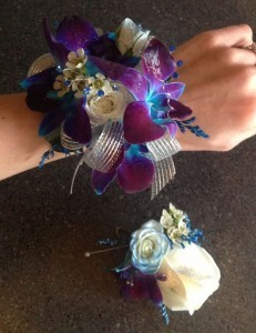 Blue Died Orchid Corsage Enchanted Florist