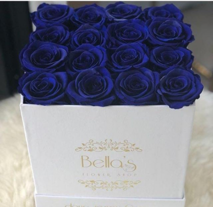 BLUE ETERNITY ROSES ROSES THAT LAST A YEAR NEW YOR