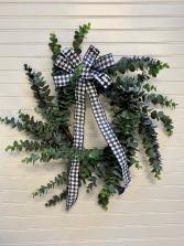 Blue Eucalyptus Artificial Door Wreath