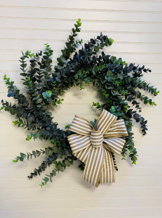 Soft Blue Eucalyptus Artificial Door Wreath