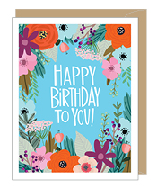 Blue Floral Birthday Card  in Bluffton, SC | BERKELEY FLOWERS & GIFTS