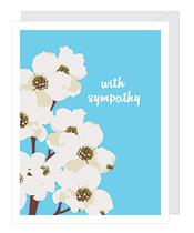 Blue Floral Sympathy Card