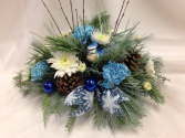 Blue Frosted Centerpiece Christmas