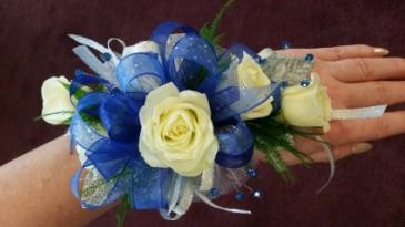 Blue Glamour wristlet