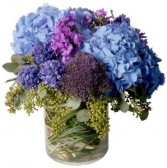 Blue Heaven Mixed vase of gorgeous blue flowers