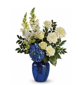 Blue Horizon  Vase in Calgary, AB | BONAVISTA FLOWERS