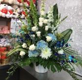 Blue Horizon funeral basket  funeral basket