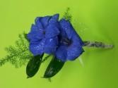 Blue horizons Blue delphinium boutonniere