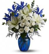 Blue Horizons                   TFWEB488 vase arrangement
