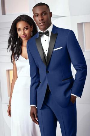 Blue Ike Behar Tribecka Wedding Tux